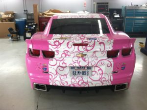 Custom vehicle wraps can be made to fit any vehicle and display any graphic.