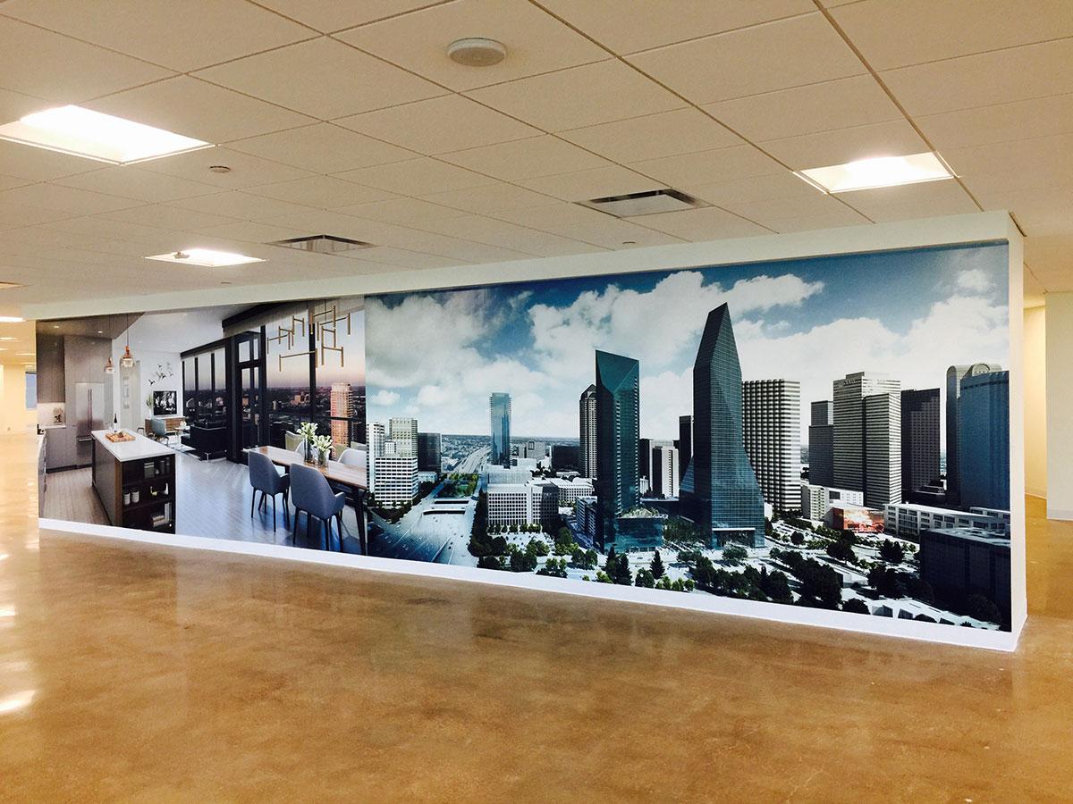 Dallas Skyline Wall Mural 1