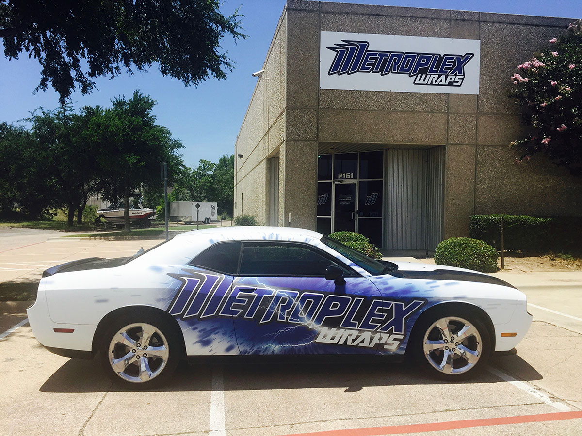 Metroplex Commercial Car Wrap 1