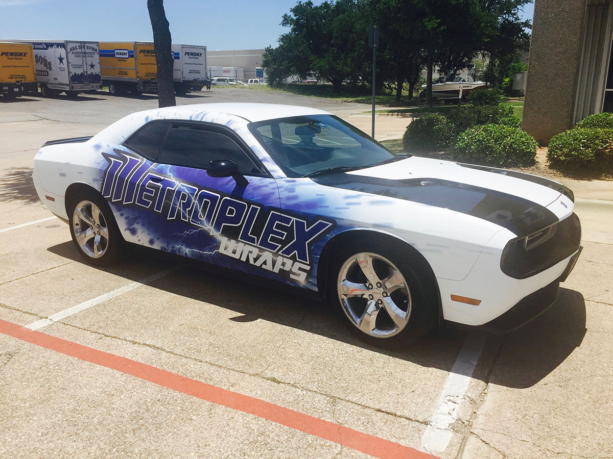 Metroplex Commercial Car Wrap 2